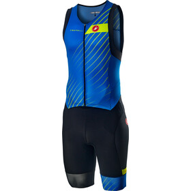 Castelli Free Sanremo Mouwloos Skinsuit Heren, drive blue